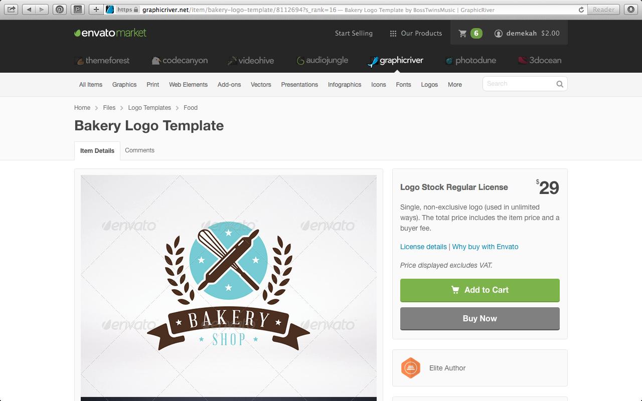 Graphicriver for wordpress blog logo's