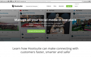 Hootsuite for social media planning