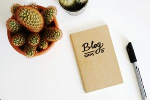 blog ideas notebook - how to come up with blog post ideas