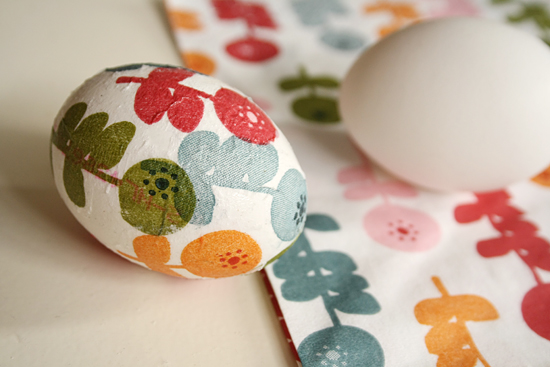 decoupage Easter egg diy