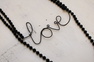 diy - love wire necklace