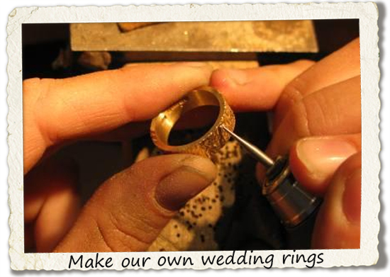 bucket list: make our own wedding rings