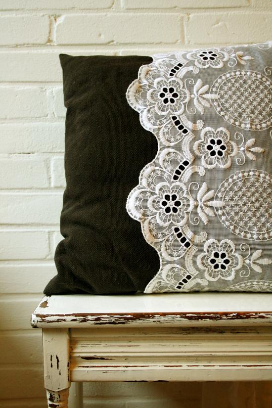 diy lace pillow