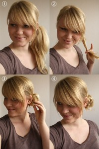 hair tutorial side bun wedding hair flower