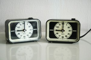 vinage alarm clocks thrift store finds