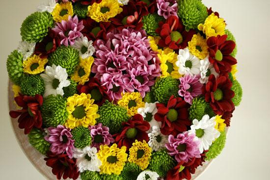 diy flower cake mother's day gift