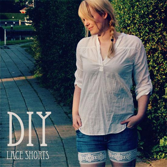 diy - lace shorts