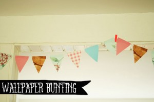 DIY - Wallpaper sample bunting