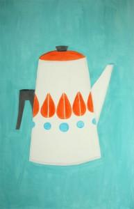 artwork vintage teapot