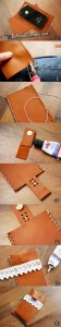 DIY - Bohemian iPhone case tutorial. How to create a beautiful iPhone case from a small piece of leather and some crocheted lace. @ By Wilma
