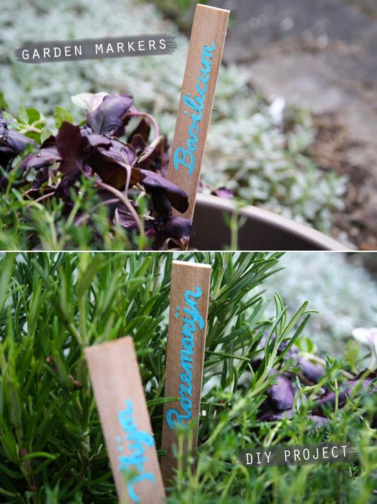 DIY - Garden herb markers