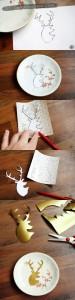 DIY - Decorative deer plate