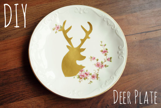 DIY - Decorative deer plate