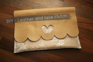DIY - Easy leather and lace clutch tutorial