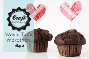 Washi tape marathon day 2: Cupcake toppers
