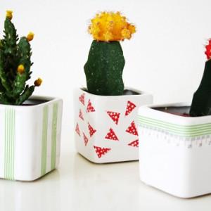 Washi tape marathon day 5: DIY cute planters