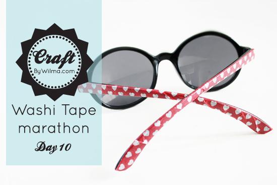 washi tape marathon day 10: DIY sunglasses