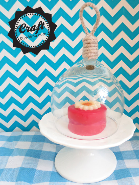 DIY - Mini bell jar from a broken wine glass