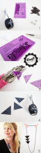 DIY - recycled pass becomes geometric triangle necklace
