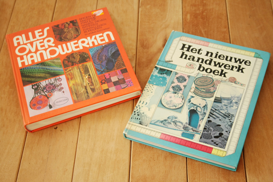 Vintage craft books with macrame tutorials!