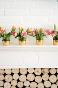 DIY Gold leaf vases or votives - By Wilma
