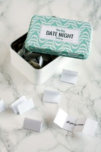 Make a DIY Lottery tin or jar with 70 printable date night ideas! - By Wilma