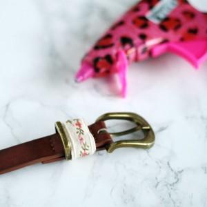 A super simple DIY way to create a cute belt