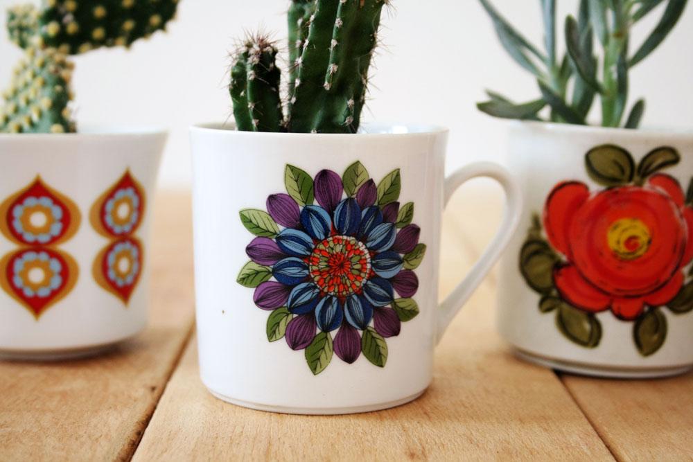 DIY - Teacup cactus planter