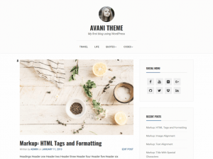 Avani WordPress Theme