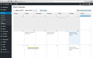 Planning blogposts with Editorial Calendar