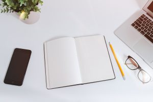 Use a notebook or phone to keep track of your blog post ideas
